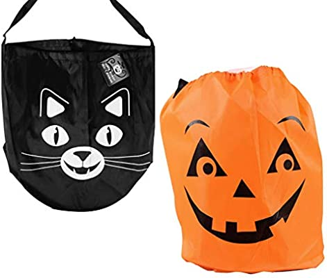 Amazon.com: Halloween truco o trato Candy bolsa Bolsas (Set ...
