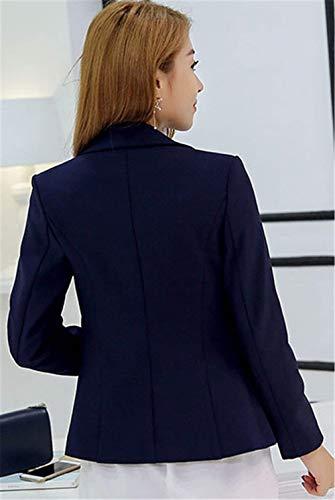 Glamorous Solidi Classiche Ufficio Tuta Manica Bavero Casual Eleganti Fashion Guaina Sottile Giacca Donna Cappotto Tailleur Schwarz Da Lunga Colori Corto Business Semplice Blazer qXtRU7wp