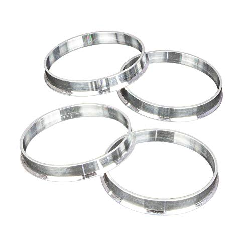 Hub Centric Rings (Pack of 4) - 64.1mm ID to 73.1mm OD - Silver Aluminum Hubrings Hub - Only Works on 64.1mm Vehicle Hubs & (73.1mm Wheel Centerbore)