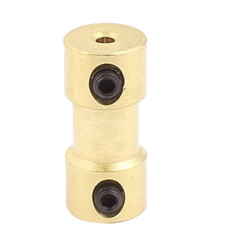 Uxcell a15113000ux1320 2mm to 2mm Copper DIY Motor Shaft Coupling Joint Connector for Electric Car Toy