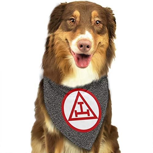 CURTE Grand Royal Arch Classic Washable and Reversible Pet Dog Cat Puppy Bandana Triangle Head Scarf Bib