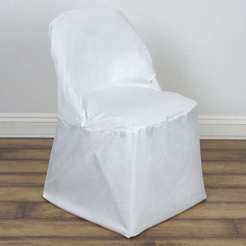 Efavormart 50pcs Ivory Folding Chair Cover For Wedding Event Party Banquet-Round