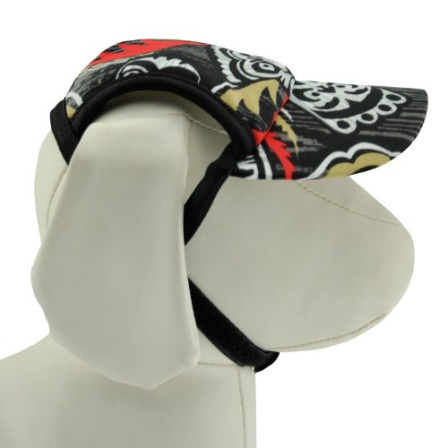 PlayaPup Dog Sun Protective Visor Hat, UPF 50+