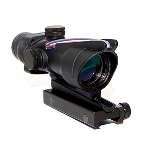Acog 4x32 Red Fiber Scope Dual Illuminated Dot .223 Ballistic Reticle Rifle Scope by cl-sports