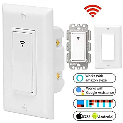 Remote Control Light Switch Wall Panel Wireless Smart Touch ON Off