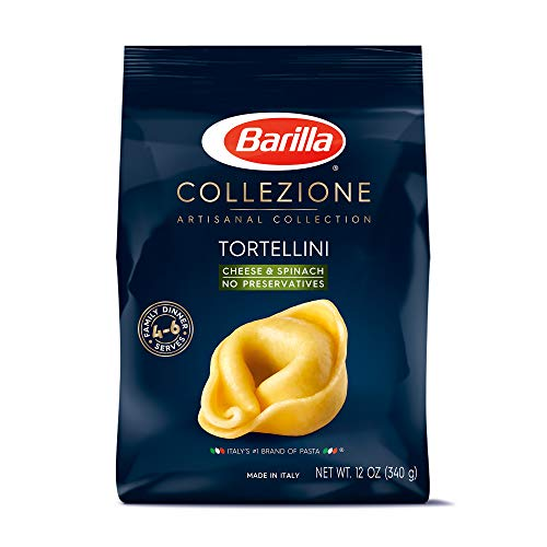 Barilla Collezione Pasta, Cheese & Spinach Tortellini, 12 Ounce (Pack of 4)