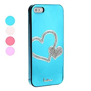 WEV Heart Pattern Hard Case for iPhone 5/5S (Assorted Colors) , Blue
