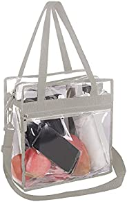Bagail Clear Bag Stadium Approved Tote Bags with Adjustable Shoulder Strap