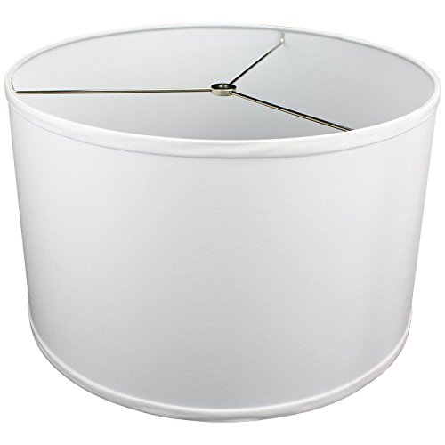 "FenchelShades.com 16"" Top Diameter x 16"" Bottom Diameter 10"" Height Lampshade USA Made (White)"