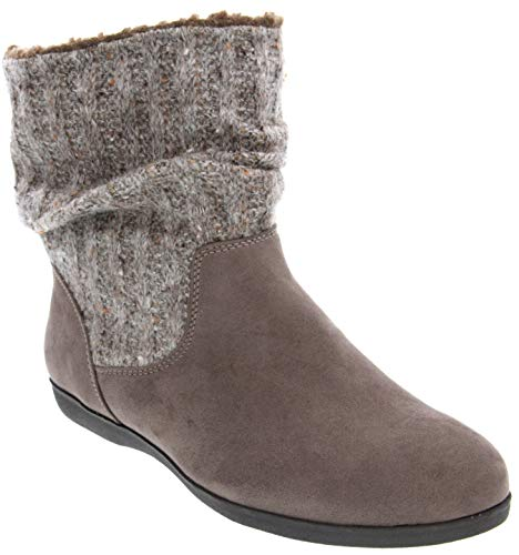 Rampage Women's Bettey Slouch Winter Sweater Flat Low Shaft Mid Calf Boot Taupe 10