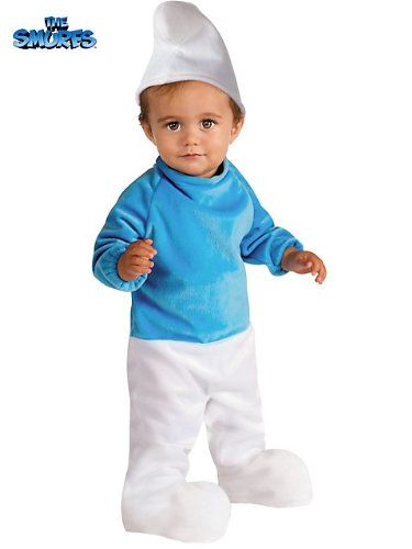 [Smurf Costume - Baby 12-18] (Baby Smurf Costumes)