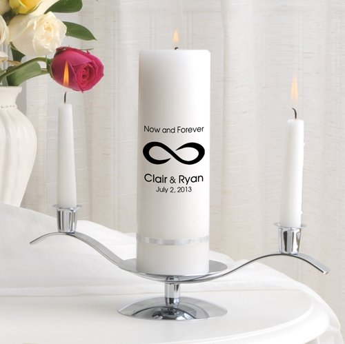 Personalized Wedding Unity Candle - Personalized Unity Candle Set - Now and Forever by A Gift Personalized