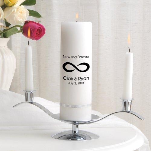 Personalized Wedding Unity Candle - Personalized Unity Candle Set - Now and Forever (Set Candle Forever Unity)