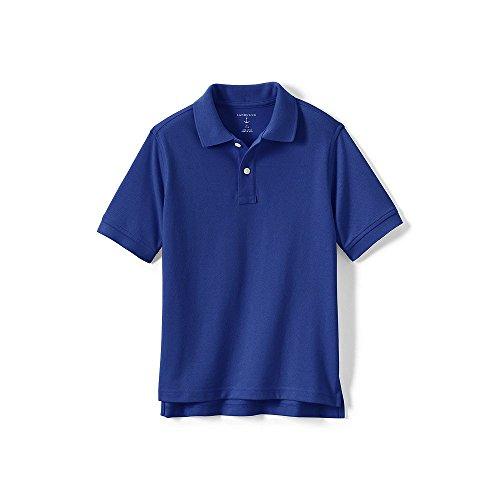 Lands' End School Uniform Little Kids Short Sleeve Performance Mesh Polo, L, Cobalt - Lands End School Uniforms
