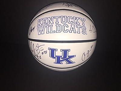 2015-16 Kentucky Wildcats Multi Signed Basketball w/COA Team