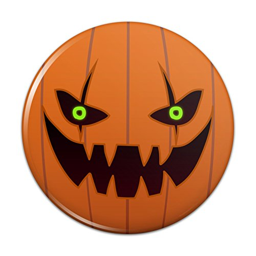 Jack-o'-lantern Pumpkin Face Halloween Decoration Compact Pocket Purse Hand Cosmetic Makeup Mirror - 2.25