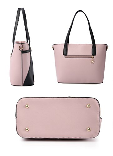 Top Handle Bags for Women Leather Tote Purses Handbags Satchel Crossbody Shoulder Bag form Nevenka (Red) by Nevenka (Image #2)