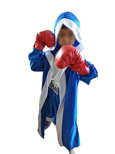 SHOLIND Kids Boys Boxing Gloves Suits Outfit Role Play Costume Dress-Up Set (S(Height:110-120cm)) -