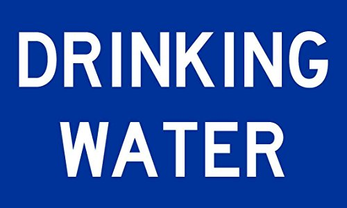 5in x 3in Drinking Water Sticker Vinyl Decal Decals Stickers Sign Safety Signs