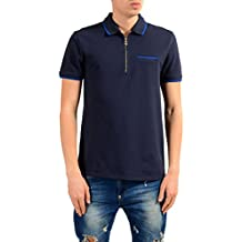 Versace Collection Men's Blue Short Sleeve Polo Shirt US L IT 52