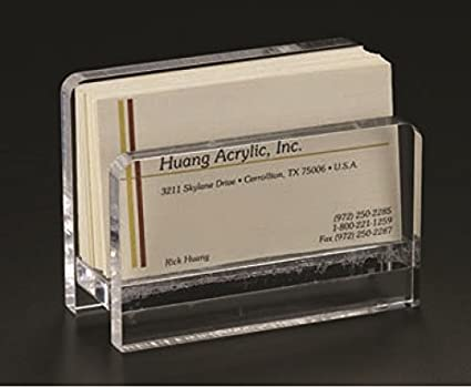 acrylic lucite clear business card stand - Clear Business Cards