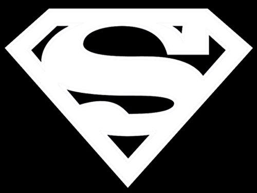 UR Impressions Superman Logo Decal Vinyl Sticker Graphics Car Truck SUV Van Wall Window Laptop|White|5.5 X 4.1 - Wall Logo Superman