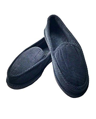 Zapatillas De Casa Cordiales Y Acogedoras Para Hombre De Hombres Slip-ons Con Amortiguación Acolchada Ligera - Primium Black Premium Black