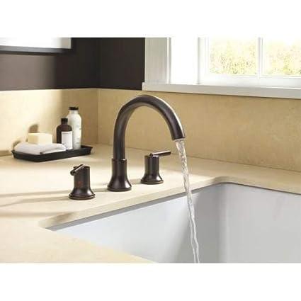 Delta Faucet T2759-RB Trinsic Venetian Bronze 3-hole Roman Tub Trim