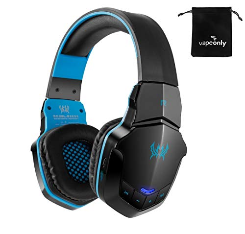 KOTION EACH B3505 Wireless Bluetooth Headphones Headband Gaming Headset W/Microphone BT4.1 Stereo Earphones For iPhone Xiaomi Smartphone vapeonly (Black Blue)