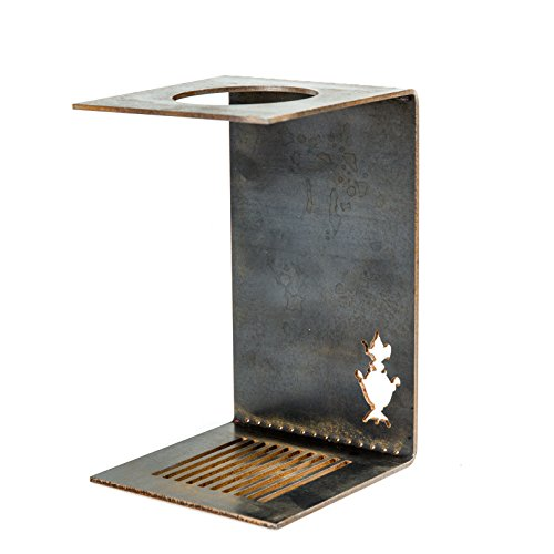Handmade Industrial Steel Minimalist Pour-Over Coffee and Tea Dripper Stand (Industrial Tea Machine)