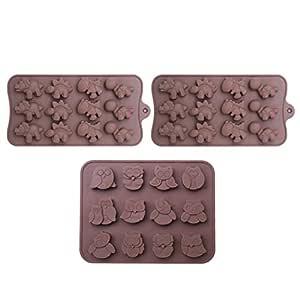 WARMWIND Moldes de silicona para chocolate, con forma de ...