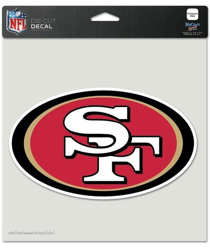 San francisco 49ers 8x8 die cut full color decal made in the usa