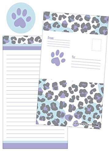 iscream Snow Leopard Pack of 8 Fold-Over Cards with Flip Sticker Seals
