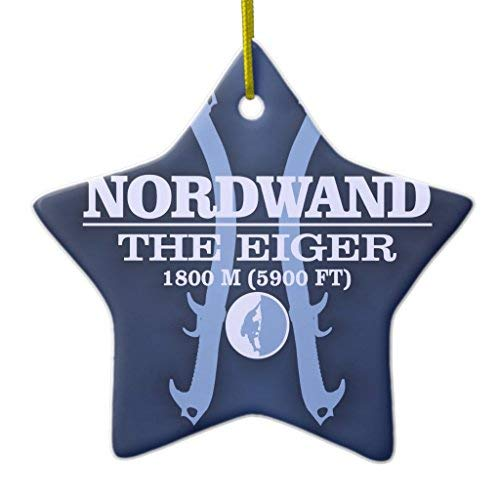 Price comparison product image Athena Bacon Nordwand The Eiger Xmas Decoration Ceramic Ornament Star Shape