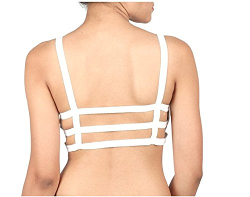 c165c8f71f13fb Image Unavailable. Image not available for. Colour  Pretty Girl 3 Strep  Bralette (White)
