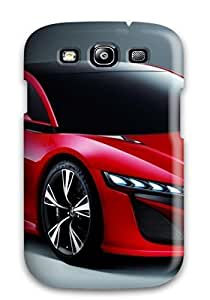 Cody Elizabeth Weaver Design High Quality Two Door Red Car On Gray Cover Case With Excellent Style For Galaxy S3