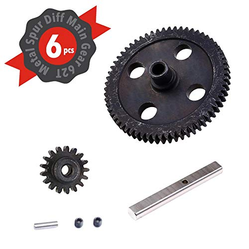 5 PCS Diff Differential Main Metal Spur RC Toys Part For Truck Spur Motor Gear