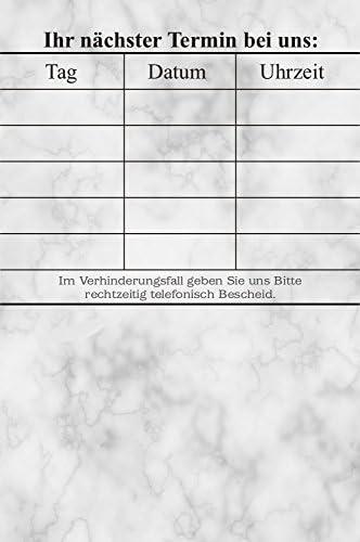 10 Terminblöcke mini mit je 100 Blatt, 1000 Terminzettel tzm1 marmoriertes Design
