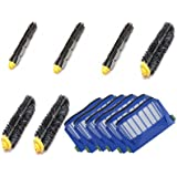 Free Shipping Accessory Kit for Irobot Roomba 585 595 Pet Series - Includes 6pc Filter, 3pc Bristle Brush and 3pc Beater Brush