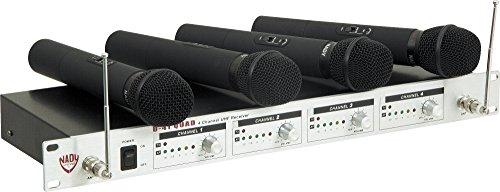 (Nady U-41 Quad Handheld Wireless System (14/16/10/12) Black)