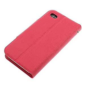 NEW Oracle Lines Pattern PU Full Body Case with Card Slot and Stand for iPhone 4/4S (Assorted Colors) , Blue