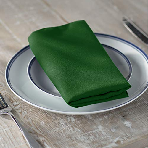 - LA Linen 10-Pack Polyester Poplin Napkins 17 by 17-Inch, Emerald Green