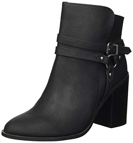 Madden Girl Women's EVILIN Ankle Boot, Black Paris, 8 M US
