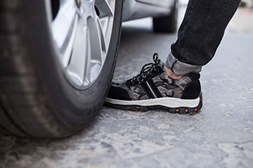 Donna Donna Calzature Sneaker Punta Stival antinfortunistiche Scarpe Scarpe Traspiranti Uomo da di con Sicurezza Comodissime da cantiere escursionismo Edilizia Acciaio per Aizeroth Scarpe in Grigio UK Lavoro S3 Industria qafCRxEwn