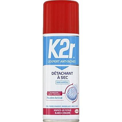 K2r - Détachant à sec tous textiles - Le spray de 200ml - (pour la