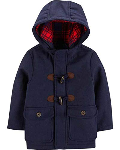 Carter's Baby Boys' Infant Faux Wool Toggle Jacket, Navy, 18M