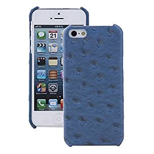 Ostrich Pattern Leather Hongjun Series Case for iPhone 5S --- COLOR:Black