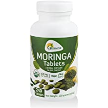 Grenera Organic Moringa Tablet - 240 Tablets/Bottle - Certified Organic (500 mg / uncoated tablet)/ Malunggay Tablet