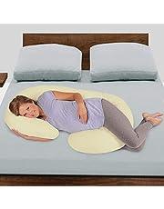 Novo 2.25Kg Pp Cotton Comfort Pregnancy & Maternity Pillow, Yellow - 145X80X25Cm,