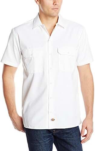 Dickies Men's Short Sleeve Work Shirt (2 Pack - X-Large, White)